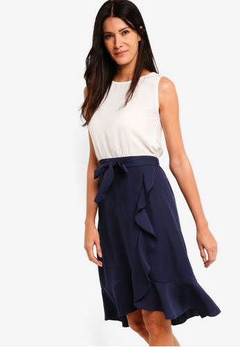 ZALORA multi Blouson Dress With Wrap Skirt 972A7AAC9B1C91GS_1