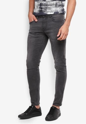 Only & Sons 灰色 緊身窄管牛仔褲 18DF8AA202F263GS_1