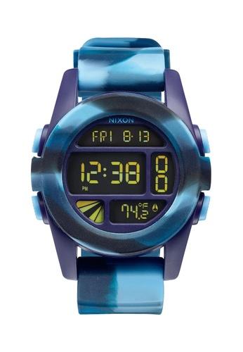 Nixon green and blue Nixon - Unit Blue Camo Digital Watch NI855AC95EDWSG_1