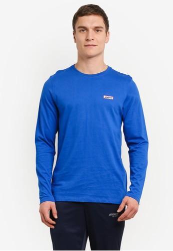 2GO blue Full Sleeve Round Neck T-Shirt 2G138AA0V5RMID_1