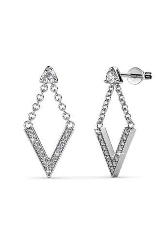 Her Jewellery silver Versatile Venus Earrings -  Made with premium grade crystals from Austria HE210AC0FQAESG_1