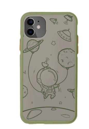 Kings Collection green Alien Planet iPhone 12 Case (UPKCMCL2212) 6F4CDAC2BCABE7GS_1