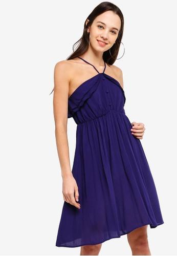 Something Borrowed 海軍藍色 Ruffled Cami Dress 247EFAA376556CGS_1