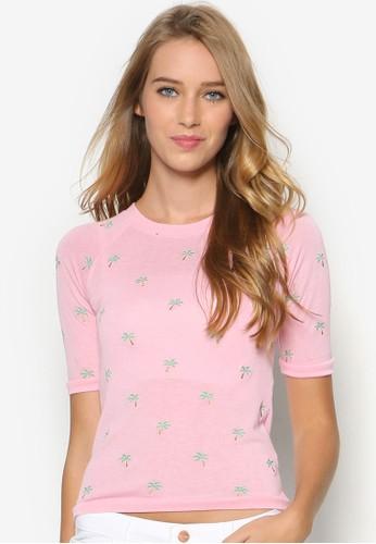 棕櫚印花短袖上衣esprit分店, 服飾, 服飾