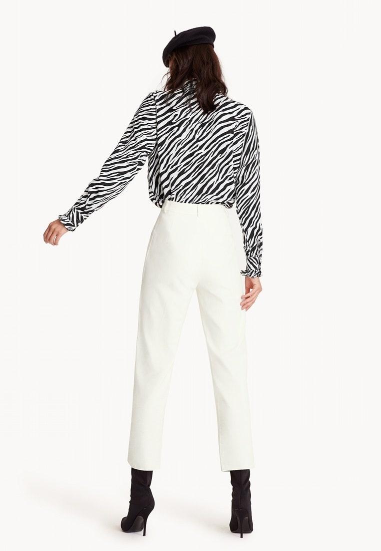 Straight Trousers Tina Pomelo White Leg CqSnw5