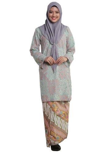 Kurung Pahang Menanti Kepulangan 03 from Hijrah Couture in Blue