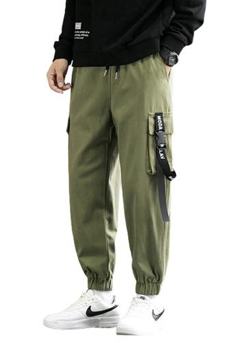 Trendyshop green Skinny Jogger Pants B9D5BAA38F3A4EGS_1