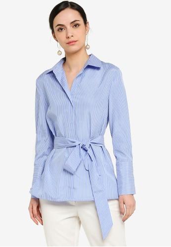 ZALORA WORK multi Shirt Tunic With Self Tie 9A2C5AA1CDD37FGS_1