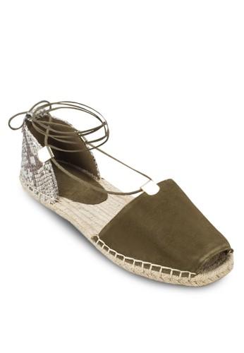 Delias 露趾繞踝麻編鞋, 女鞋zalora 衣服評價, 涼鞋