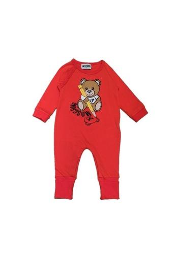 MOSCHINO BABY KID TEEN red MOSCHINO BABY ROMPER B7298KA61CDFA1GS_1