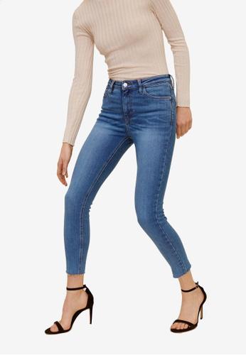 Mango blue Crop Skinny Isa Jeans 4981FAA8957BB0GS_1