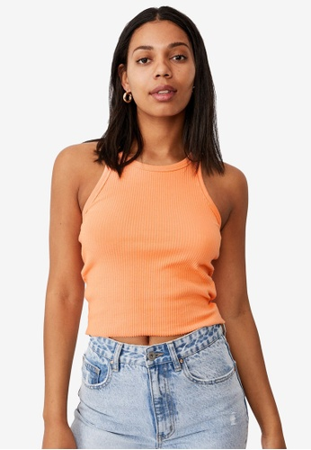 Cotton On orange The Turn Back Tank Top 7D8A6AACB63E29GS_1
