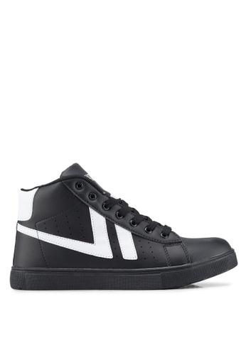 Rocklander black High Top Sneakers 7236ESHC5E6498GS_1