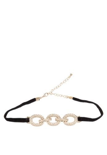 三節閃石扣環項圈, 飾品esprit 折扣配件, 飾品配件