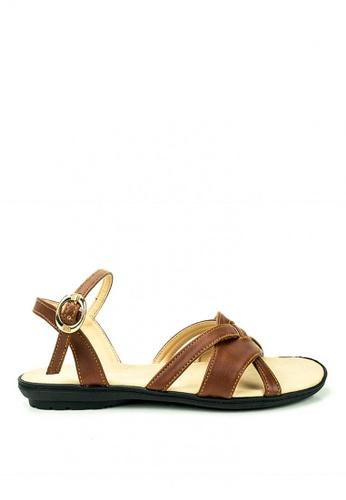 Cardam's Lifestyle brown Anne Flat Sandals 485ABSH5F89C44GS_1