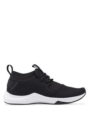 Puma black Phenom Low Geo Women's Shoes 193CFSHC99BB18GS_1