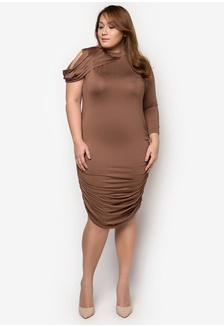 93c9e5af0dba5 Madelaine Ongpauco Barlao Plus Size Cold Shoulder Halter Top With Belt And Pencil  Skirt Php 3699.00 · Plus Size One Shoulder Dress FA125AA64QCDPH 1