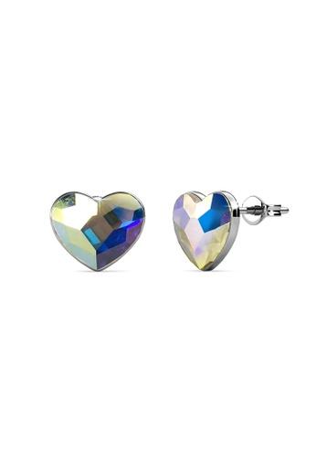 Her Jewellery silver Her Jewellery Fond Love Earrings (AB Rainbow) with 18K Gold Plated HE210AC0GIFZSG_1