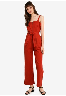 73389af1e8 Woven Coco Strappy Zip Jumpsuit 5A4CCAA3505512GS 1
