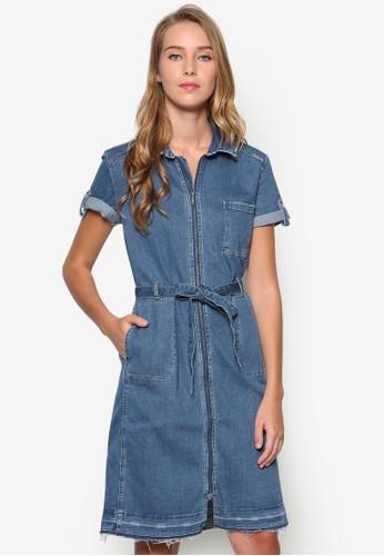 丹寧襯衫式洋裝,esprit outlet台北 服飾, 洋裝