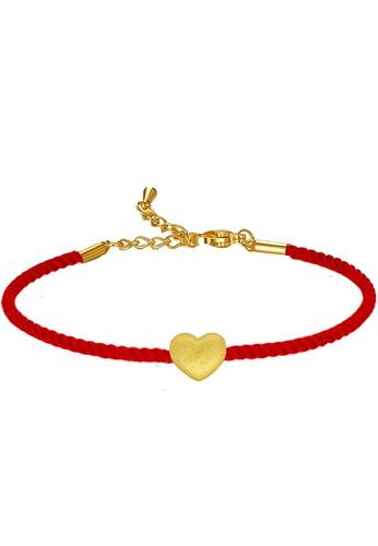 LITZ gold [SPECIAL] LITZ 999 (24K) Gold Love Charm With Bracelet 爱心手绳 EPC0893-B-R(0.12g+/-) D7501ACC885D80GS_1
