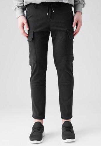 韓系休閒。雙口袋。水洗修身長褲-07375-黑色, 服飾,esprit專櫃 直筒褲