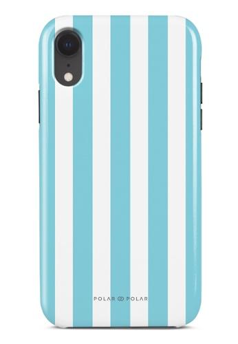 Polar Polar blue Baby Blue Stripe Dual-Layer Tough Case Glossy For iPhone XR 1DBE4AC8F875F2GS_1