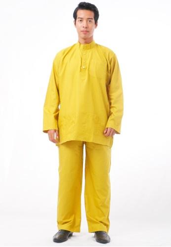 KAMDAR yellow Aathif Baju Melayu 139B6AA8F34F79GS_1