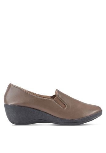 Louis Cuppers brown Wedge Loafers LO977SH20BEHMY_1
