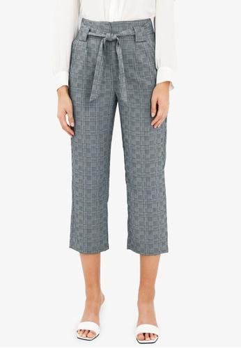 FORCAST grey Laurel Check Pants BCFF2AA2D06165GS_1