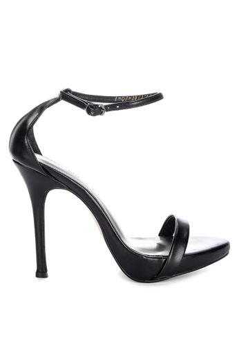 Janylin black One strap platform Heels with Ankle Strap JA200SH19NGAPH_1