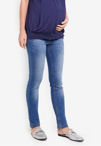 JoJo Maman Bébé 藍色 孕婦裝 緊身牛仔褲 15869AA25ACC31GS_1