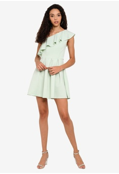 3f106210f2d Miss Selfridge Mint Green One Shoulder Scuba Mini Dress RM 279.00. Sizes 6  8 10 12 14