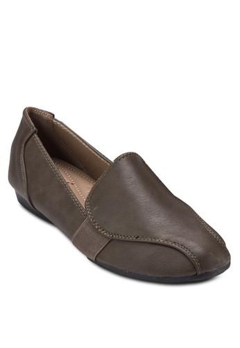 拼接彈性esprit 兼職帶樂福鞋, 女鞋, 鞋