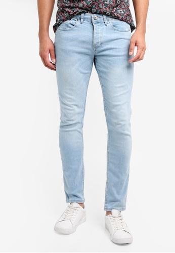 River Island blue Wash Skinny Jeans A2EAFAA56891DCGS_1
