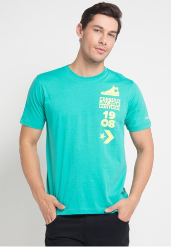 Converse green 1908 All Star Tee 5FEB8AAF3B8E3CGS_1