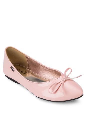 漆皮蝴蝶結娃娃zalora 包包 ptt鞋, 女鞋, 芭蕾平底鞋