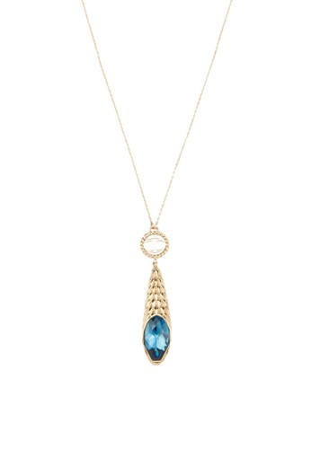 Juesprit 京站st Drop Scagc01 藍水晶吊墜項鍊, 飾品配件, 飾品配件