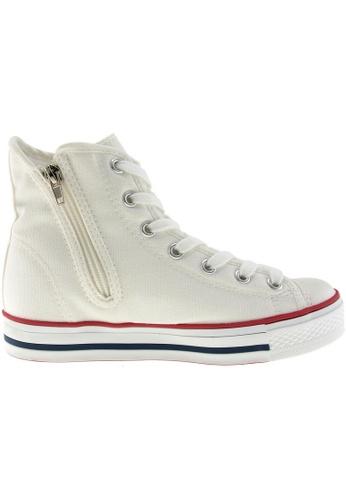 Maxstar white Maxstar Women's C1 7 Holes Canvas High Top Casual Sneakers US Women Size MA164SH51QAASG_1