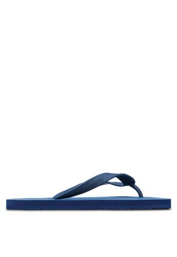 24:01 blue and navy Geometric Flip Flops 24841SH19AVOPH_1