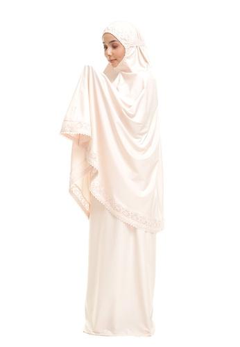 SITI KHADIJAH pink Siti Khadijah Telekung Modish Cadina in Nude Pink (Modern Fit) 5C005AA0130F8DGS_1