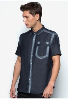 Utilitarian Denim Short Sleeve Shirt