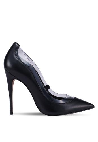 ALDO 黑色 尖頭透明滾邊高跟鞋 9612ASHAB87634GS_1