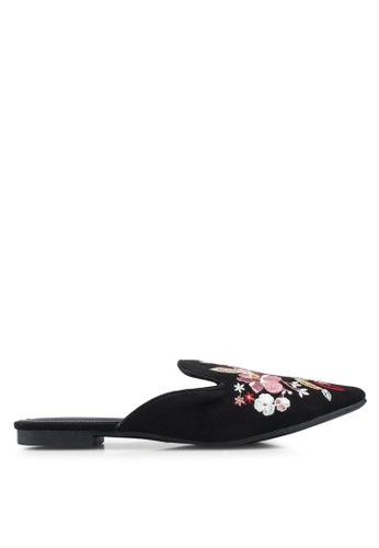 506e260fdbfe Buy Nose Floral Embellished Low Heel Mules Online on ZALORA Singapore