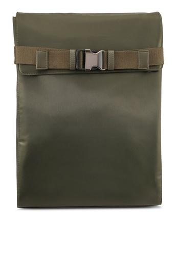 ZALORA green Flap Nylon Backpack AB602AC65827FCGS_1