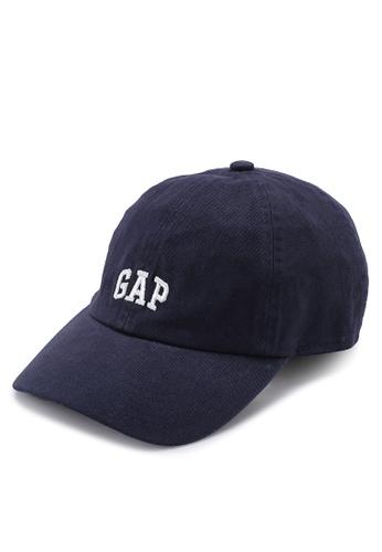GAP navy Logo Baseball Hat 3AAAAACB4D834EGS_1
