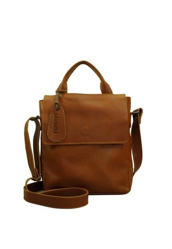 The Tannery Manila brown Dean, Genuine Leather Tan Messenger Bag TH690AC46DLXPH_1
