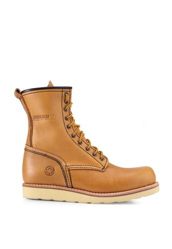 Lumberjacks 黃色 皮革 High Cut Boots A558CSH3AC9154GS_1