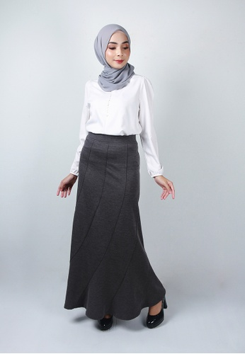 Ladies Jeans grey Cosy Long Skirt E92CDAAB2181DBGS_1