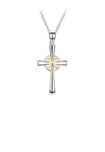 Glamorousky silver 925 Sterling Silver Fashion Simple Cross Pendant with Necklace E8640ACCCCAF31GS_1